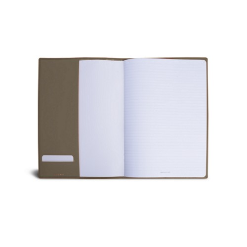 A4 Notebook cover - Dark Taupe - Smooth Leather