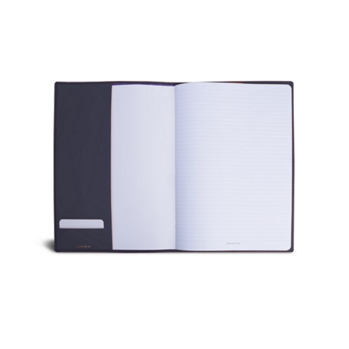 A4 Notebook cover - Purple - Smooth Leather