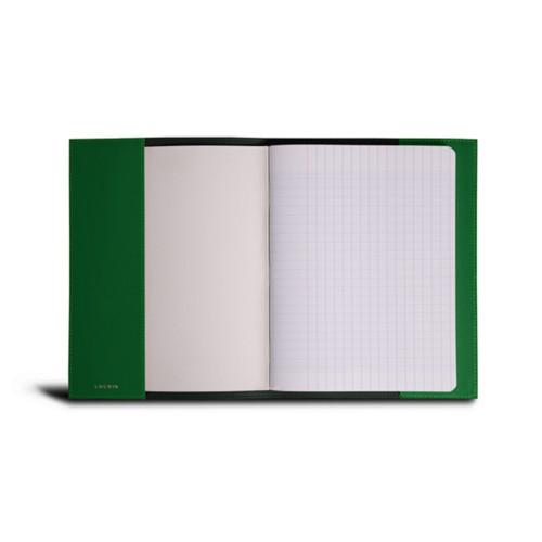 A5 Notebook Cover - Light Green - Crocodile style calfskin