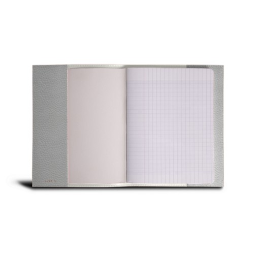 A5 Notebook cover - White - Granulated Leather