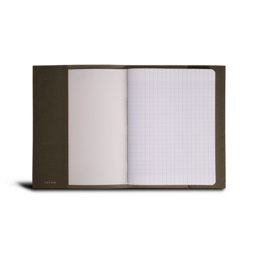 A5 Notebook cover - Dark Taupe - Granulated Leather