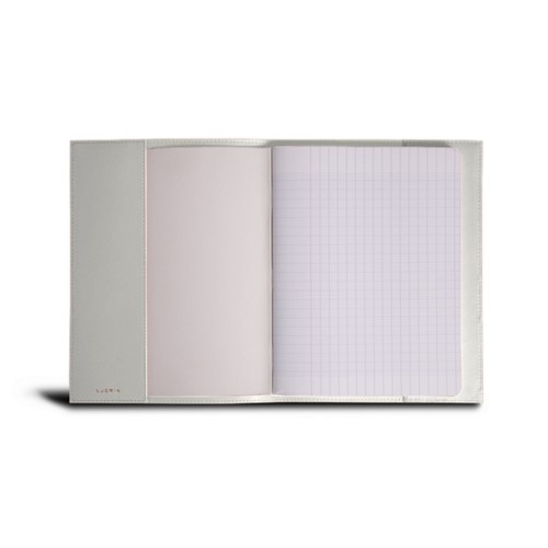 A5 Notebook cover - White - Smooth Leather