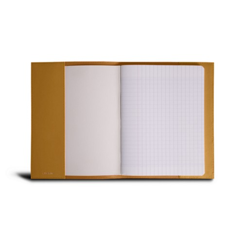 A5 Notebook cover - Mustard Yellow - Smooth Leather