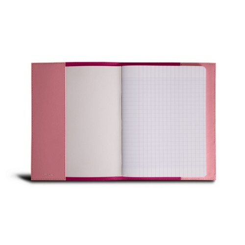 A5 Notebook cover - Pink - Smooth Leather
