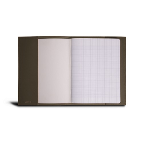 A5 Notebook cover - Dark Taupe - Smooth Leather