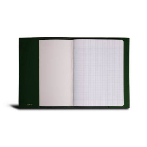 A5 Notebook Cover - Dark Green - Smooth Leather