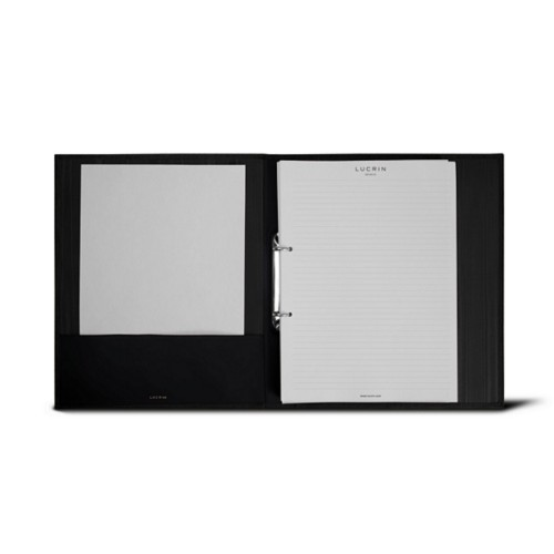 A4 Office binder - 2 rings (100 sheets) - Black - Bonded Leather