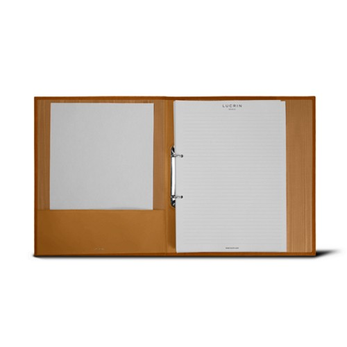 A4 Office binder - 2 rings (100 sheets) - Natural - Bonded Leather