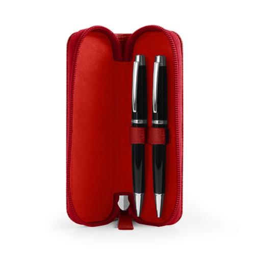 Étui 2 stylos zippé