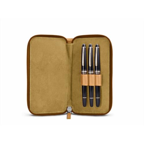 Étui 3 stylos zippé