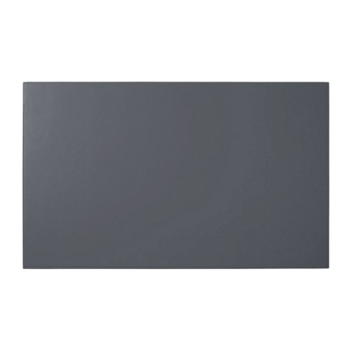 Rigid conference pad (73 x 45 cm) - Mouse-Grey - Smooth Leather