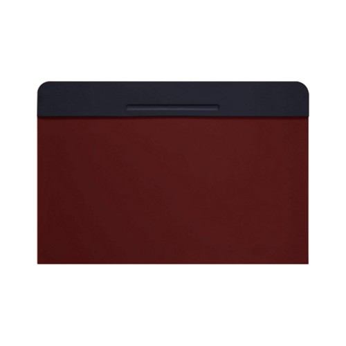 Customisable desk blotter (15.7 x 14 inches) - Navy Blue-Burgundy - Smooth Leather