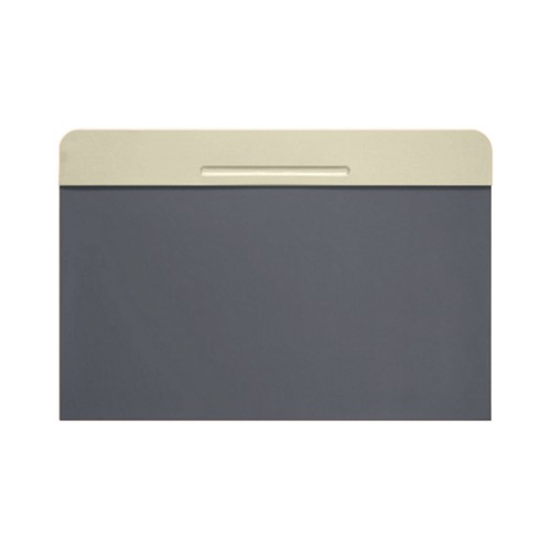 Customisable desk blotter (40 x 35.5 cm) - Off-White-Mouse-Grey - Smooth Leather