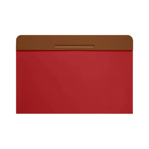 Customisable desk blotter (40 x 35.5 cm) - Tan-Red - Smooth Leather
