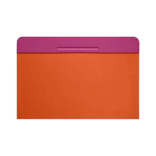 Customisable desk blotter (40 x 35.5 cm) - Fuchsia-Orange - Smooth Leather