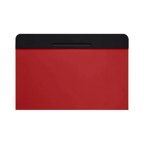 Customisable desk blotter (40 x 35.5 cm) - Black-Red - Smooth Leather