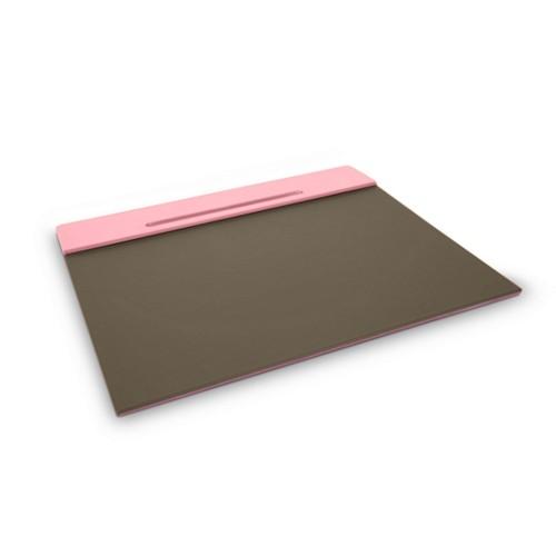 Organizador de escritorio personalizable (40 x 35,5 cm) - Rosa-Marrón topo - Piel Liso