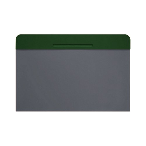 Customisable desk blotter (15.7 x 14 inches) - Dark Green-Mouse-Grey - Smooth Leather