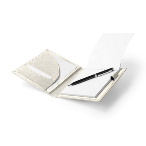 A6 Portfolio - Off-White - Granulated Leather