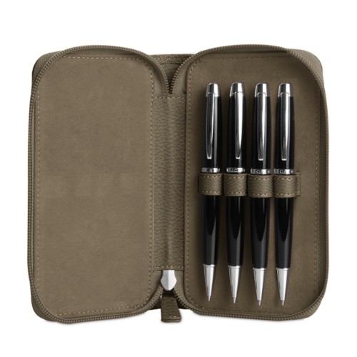 Zipped case for 4 pens