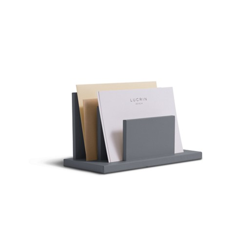 Letters or envelopes holder - Mouse-Grey - Smooth Leather
