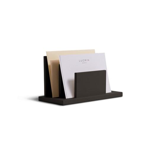 Letters or envelopes holder - Dark Brown - Smooth Leather