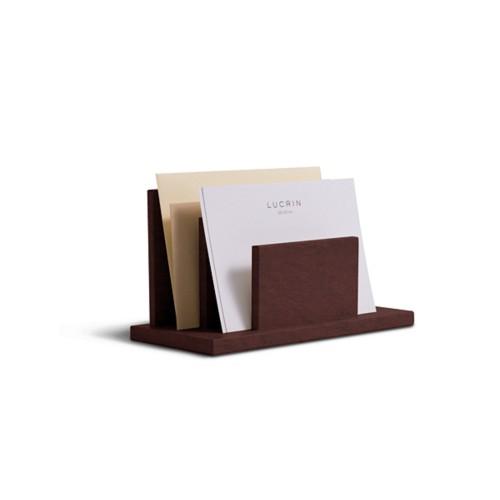 Letters or envelopes holder - Dark Brown - Vegetable Tanned Leather