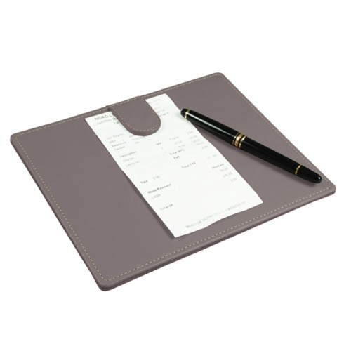Signature Pad - Light Taupe - Smooth Leather