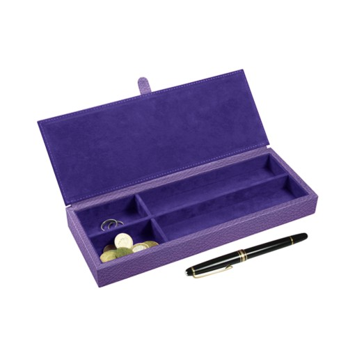 Luxury Pen Case - Lavender - Granulated Leather