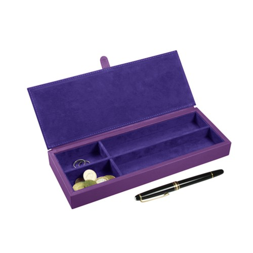 Luxury Pen Case - Lavender - Smooth Leather
