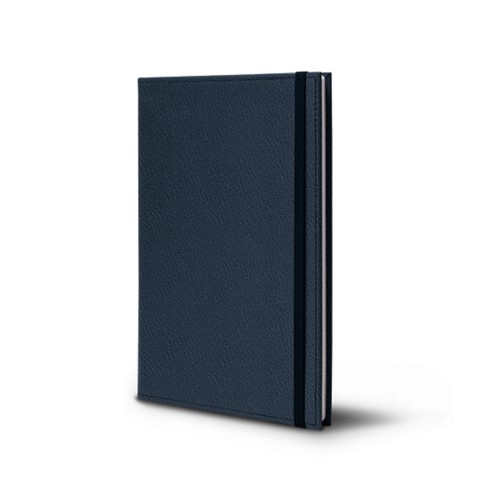 Notebook - A5 format - Navy Blue - Goat Leather
