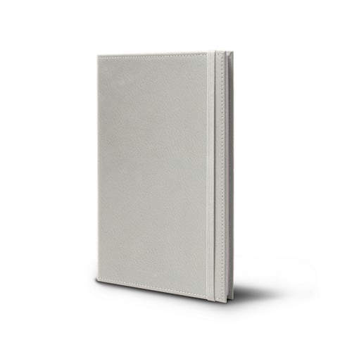 Notebook - A5 format - White - Goat Leather