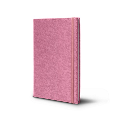 Notebook - A5 Format - Pink - Goat Leather