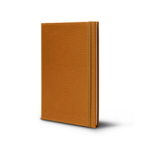 Notebook - A5 Format - Saffron - Goat Leather