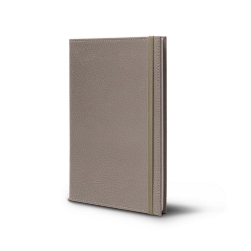 Notebook - A5 Format - Light Taupe - Goat Leather