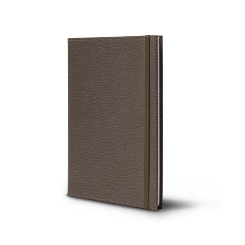 Notebook - A5 Format - Dark Taupe - Goat Leather