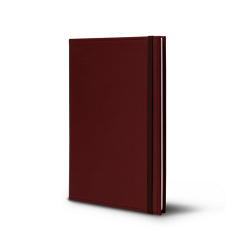 Notebook - A5 format - Burgundy - Smooth Leather
