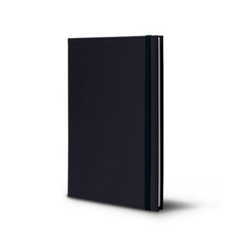 Notebook - A5 format - Navy Blue - Smooth Leather