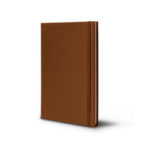 Notebook - A5 format - Tan - Smooth Leather