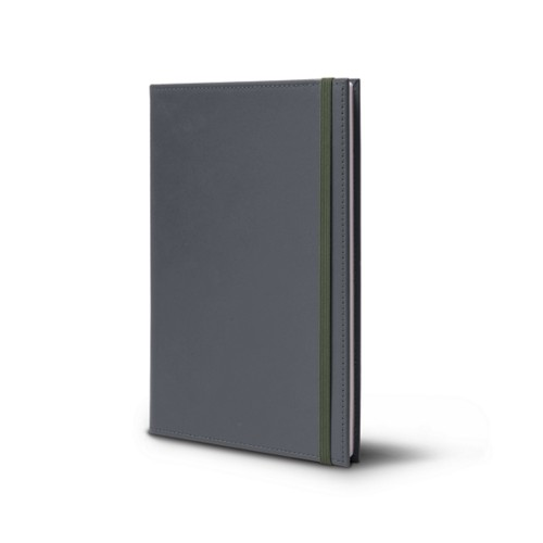 Notebook - A5 Format - Mouse-Grey - Smooth Leather