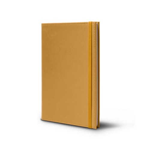 Notebook - A5 Format - Mustard Yellow - Smooth Leather