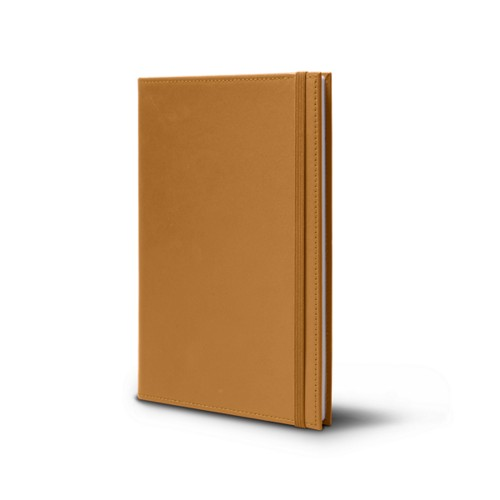 Notebook - A5 Format - Natural - Smooth Leather