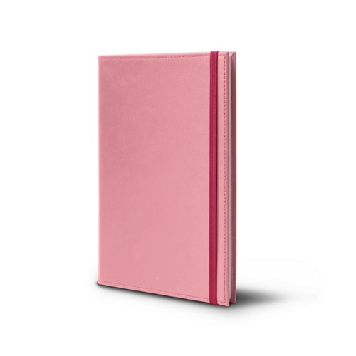 Notebook - A5 format - Pink - Smooth Leather