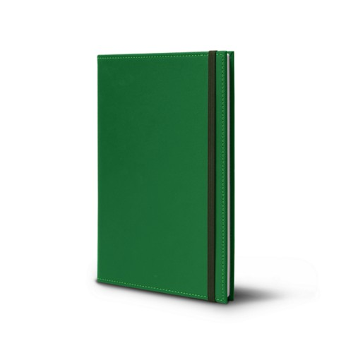 Notebook - A5 format - Light Green - Smooth Leather