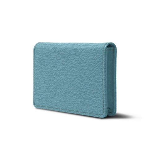 leather business cards case with flap