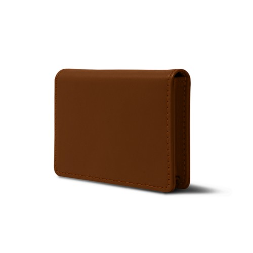 Business cards case with flap