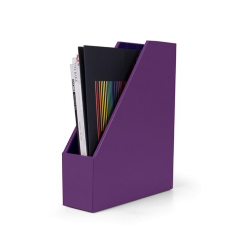Simple magazines rack - Lavender - Smooth Leather
