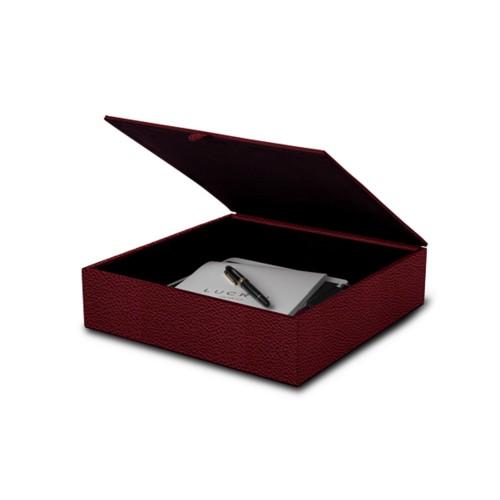 Caja grande de almacenamiento (27 x 27 x 7 cm)