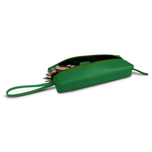 Astuccio grande - Verde chiaro - Pelle Liscia