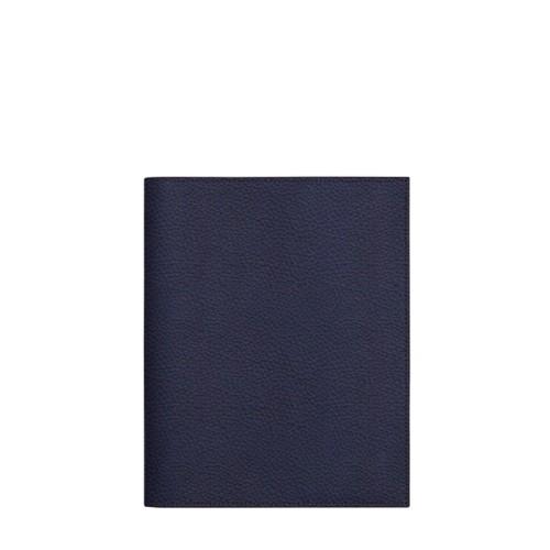 Couverture cahier A5 - Bleu Marine - Cuir Grainé